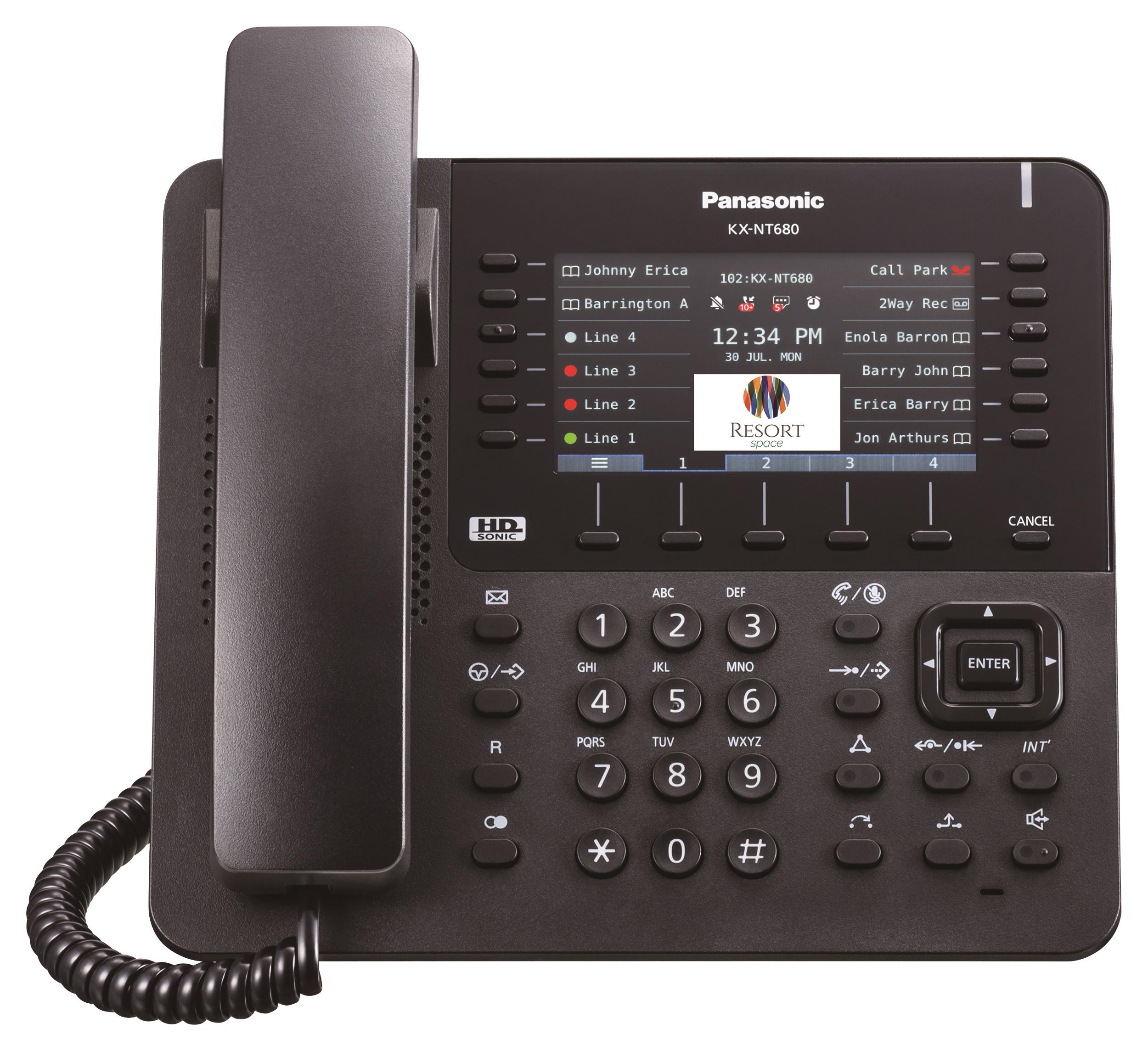 Телефон Panasonic KX-NT680 имеет самый большой 4,3-дюймовый цветной ЖК-дисплей сподсветкой