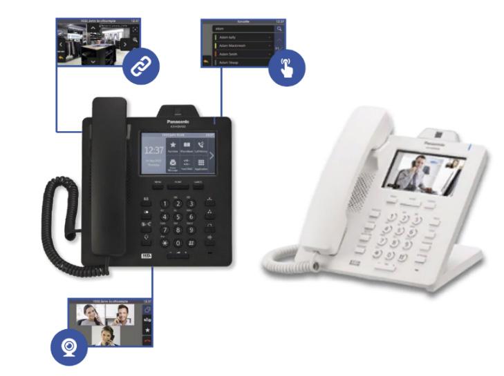 Panasonic KX-HDV430 - Видеотелефон со встроенной камерой, 16 SIP-линий, 2 порта Gigabit Ethernet, PoE