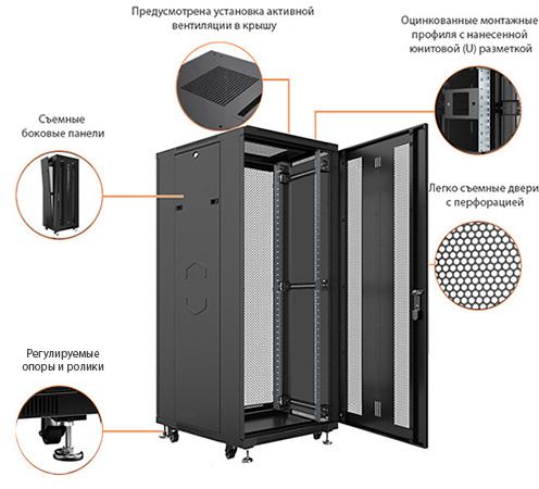 Телекоммуникационный шкаф 19 напольный Cabeus глубиной 1200 мм является новинкой и считается востребованной моделью среди телекоммуникационных шкафов