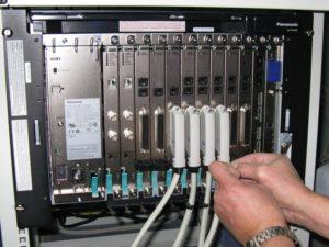 Программирование настройка АТС, установка дополнительных модулей