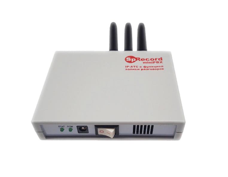 IP АТС SpRecord miniPBX 10 17390₽  Автономная сетевая АТС с функцией записи разговоров